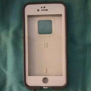 🔥 2/$10 🔥 White and gray lifeproof case 6/6S